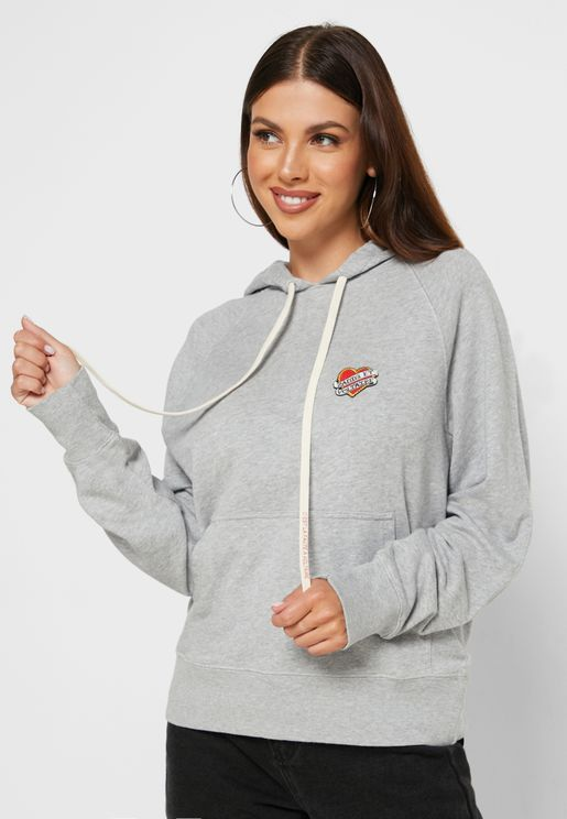 Clipper Heart Patch Detail Hoodie