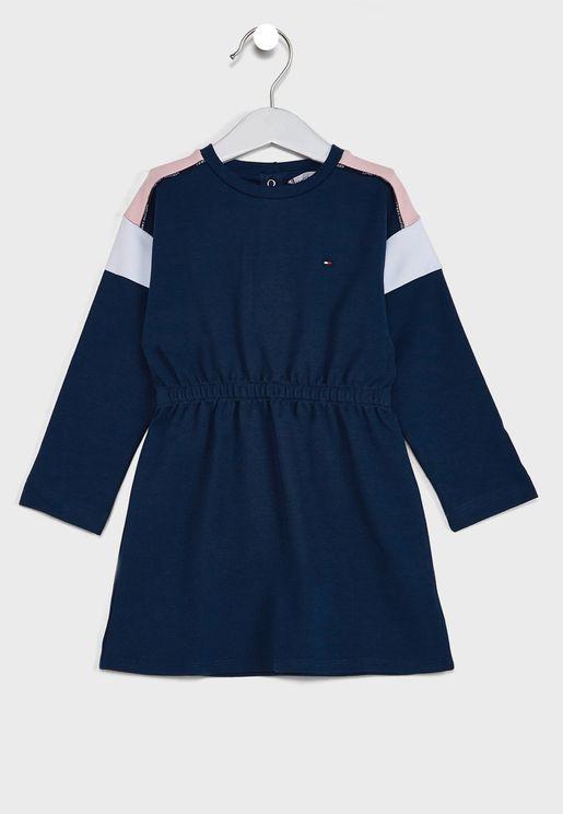 Kids Colorblock L/S Dress
