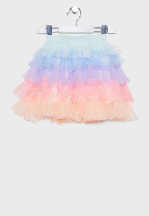 Kids Seaglass Rainbow Skirt