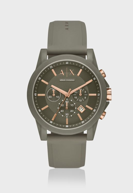 AX1341 Chronograph Silicone Watch