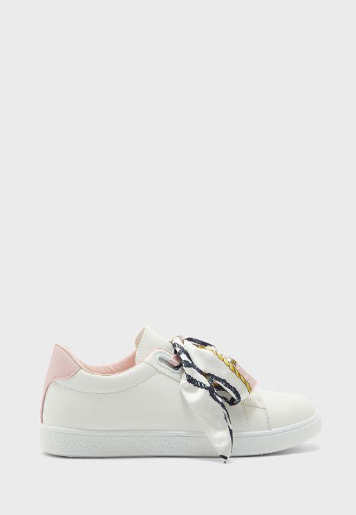 Scarf Tie Sneakers