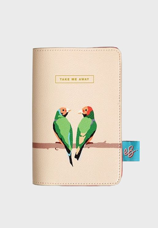 Parrot Printed Passport Case
