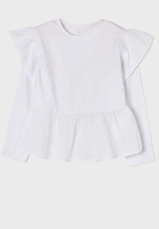 Kids Ruffle Detail Top