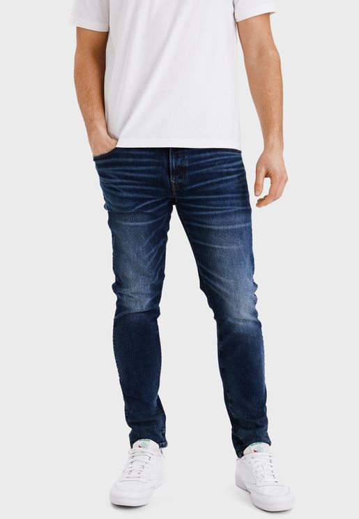 Mid Wash Skinny Fit Jeans
