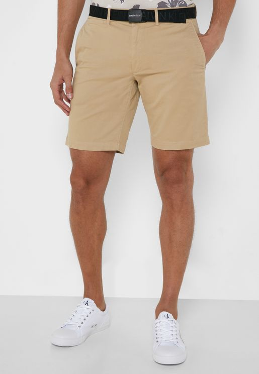 Dyed Belted Shorts