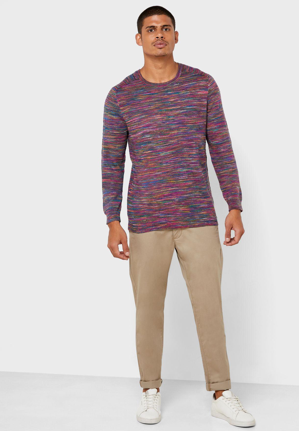 Zac Space Dye Crew Neck T-Shirt
