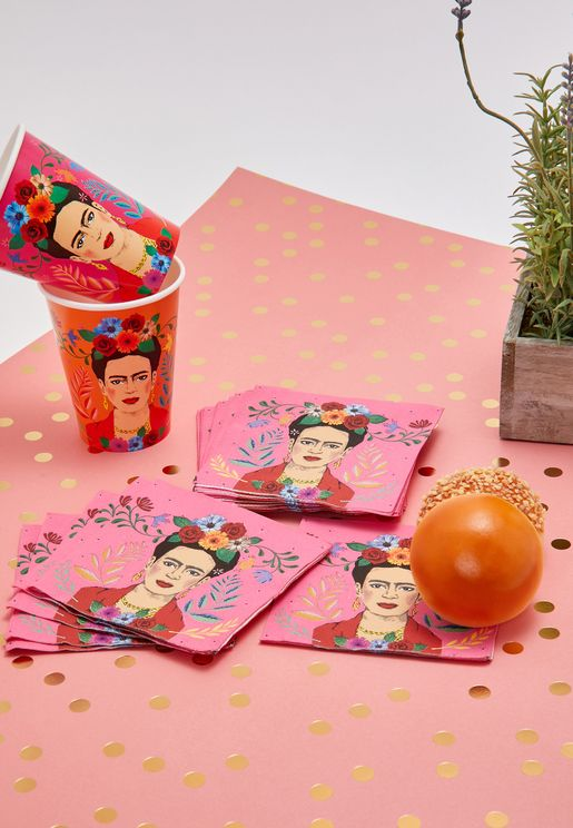 Boho Frida Kahlo Party Napkins 16 Pack