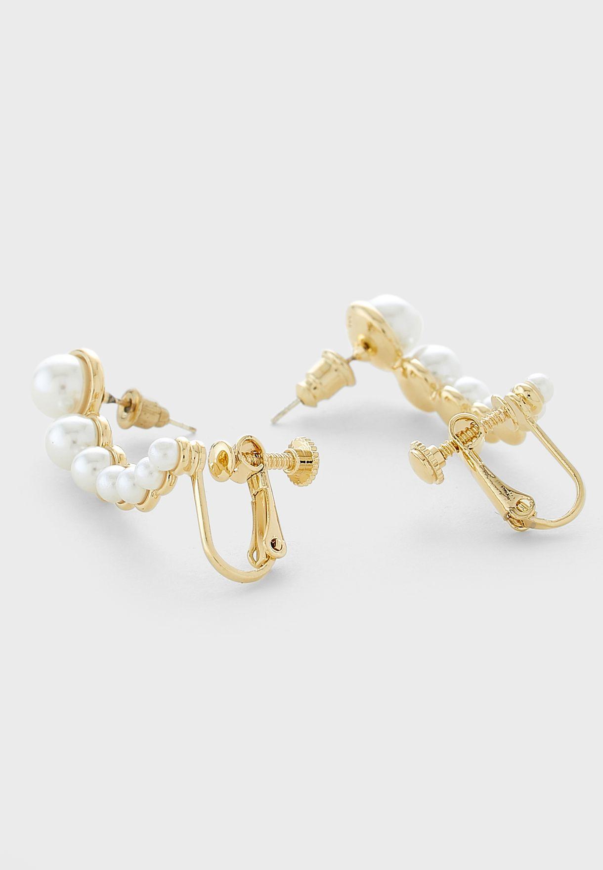 Pearl Ear Cuff Earrings