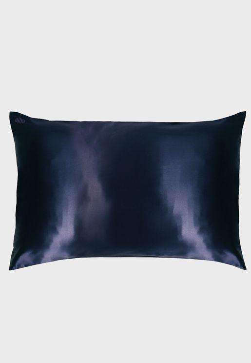 Queen Size Silk Pillow Case - Navy