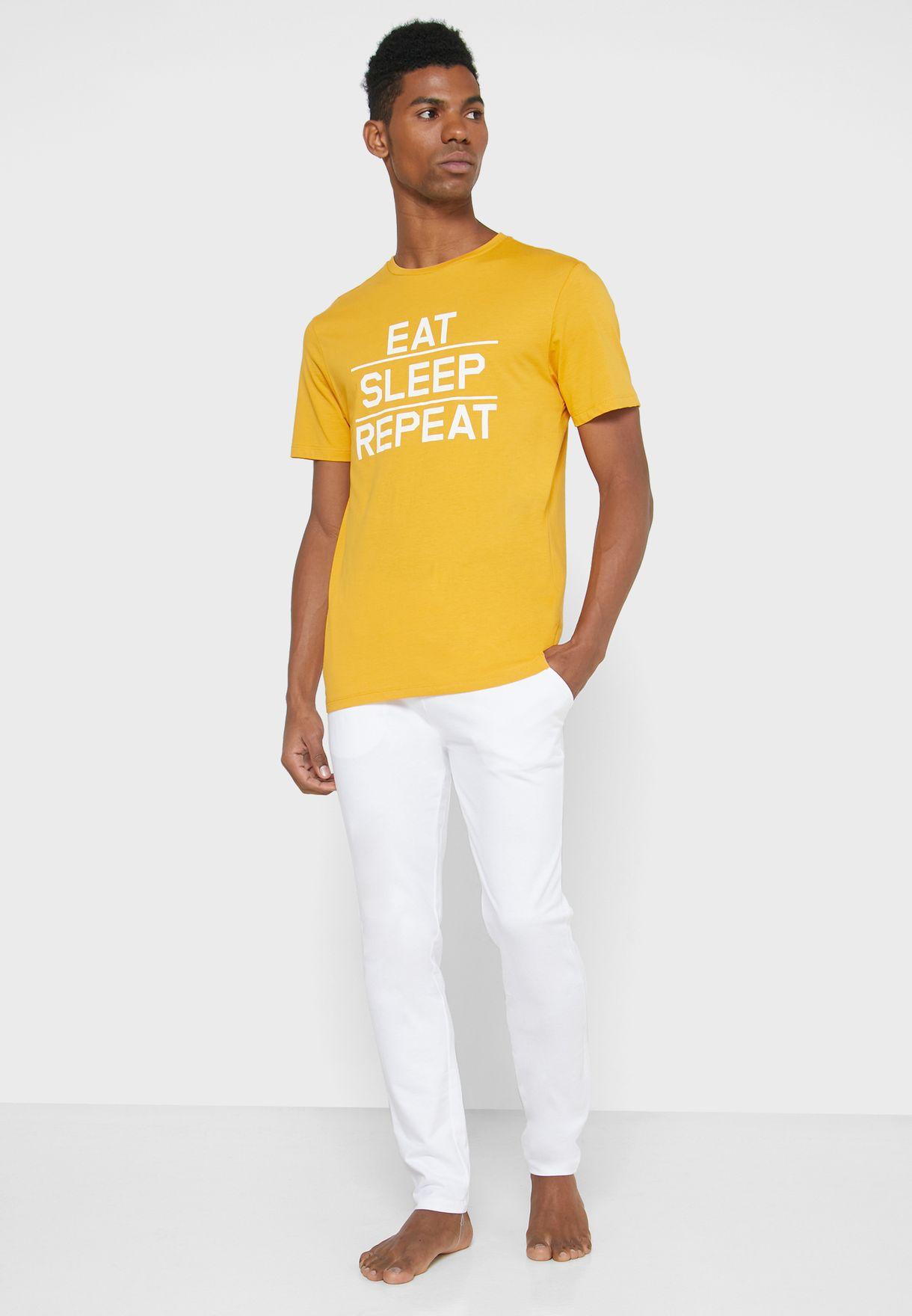 Eat Sleep Repeat Pyjama Set
