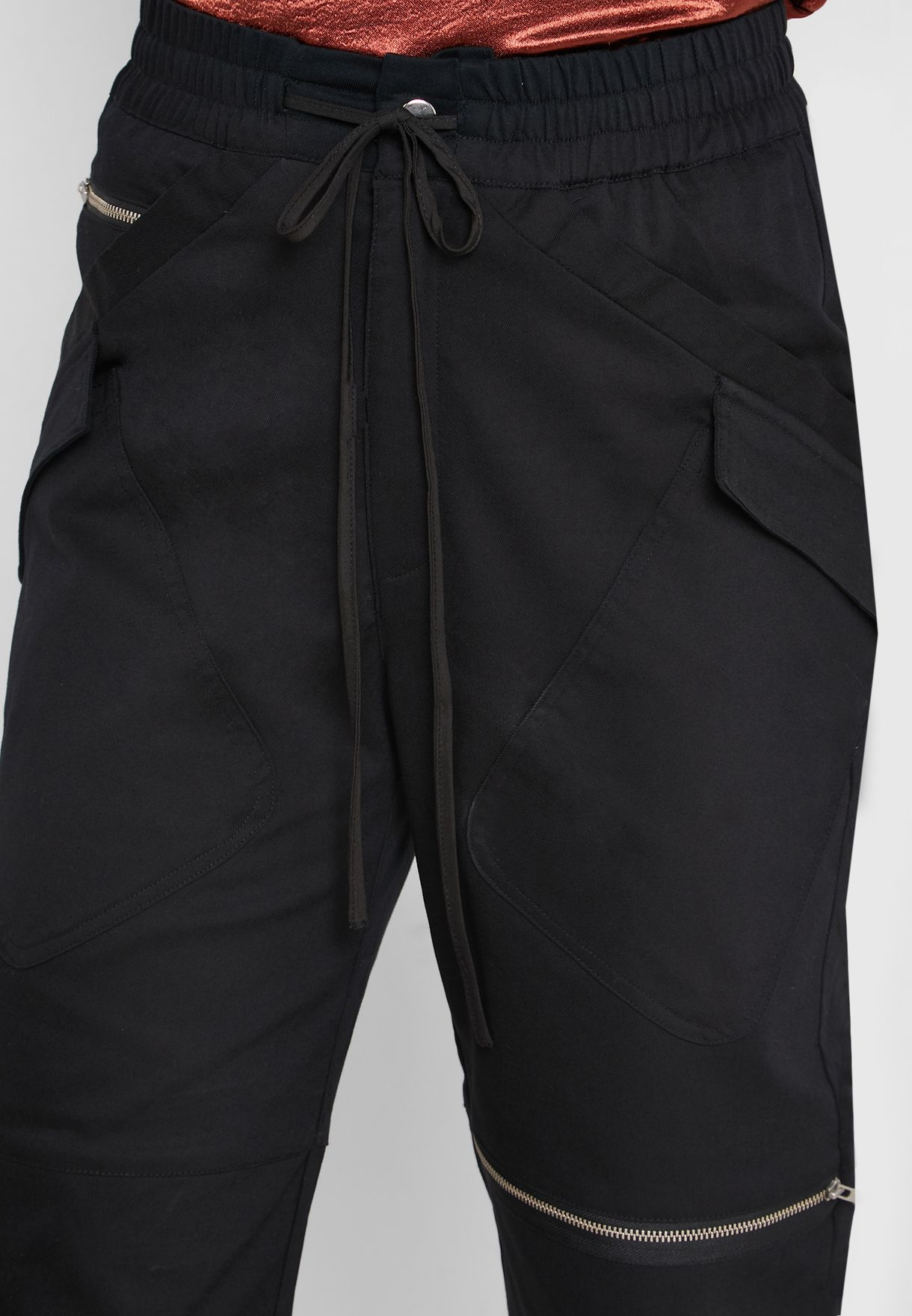 Zip Detail Cargo Pants