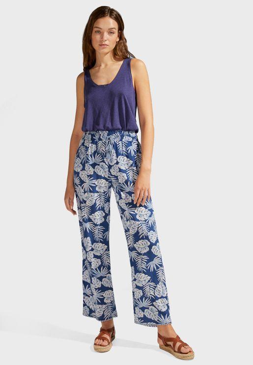 Tropical Print Capri Pyjama Pant