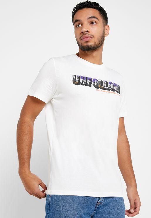 Unfollow Regular Fit Crew Neck T-Shirt
