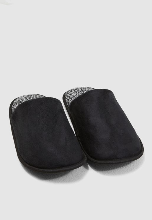 Faux Suede Bedroom Slippers