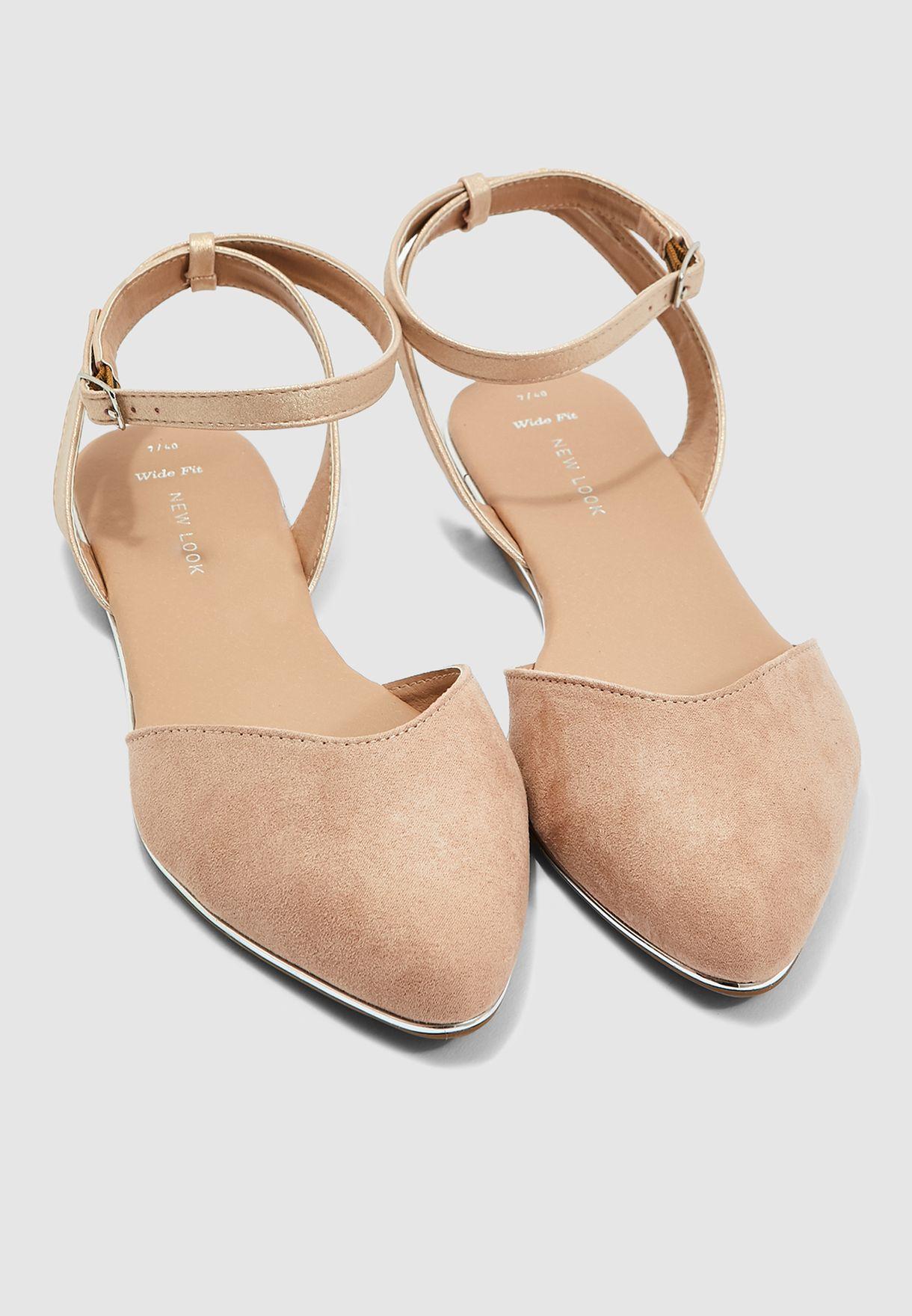 Wide Fit Javana Ballerina - Oatmeal