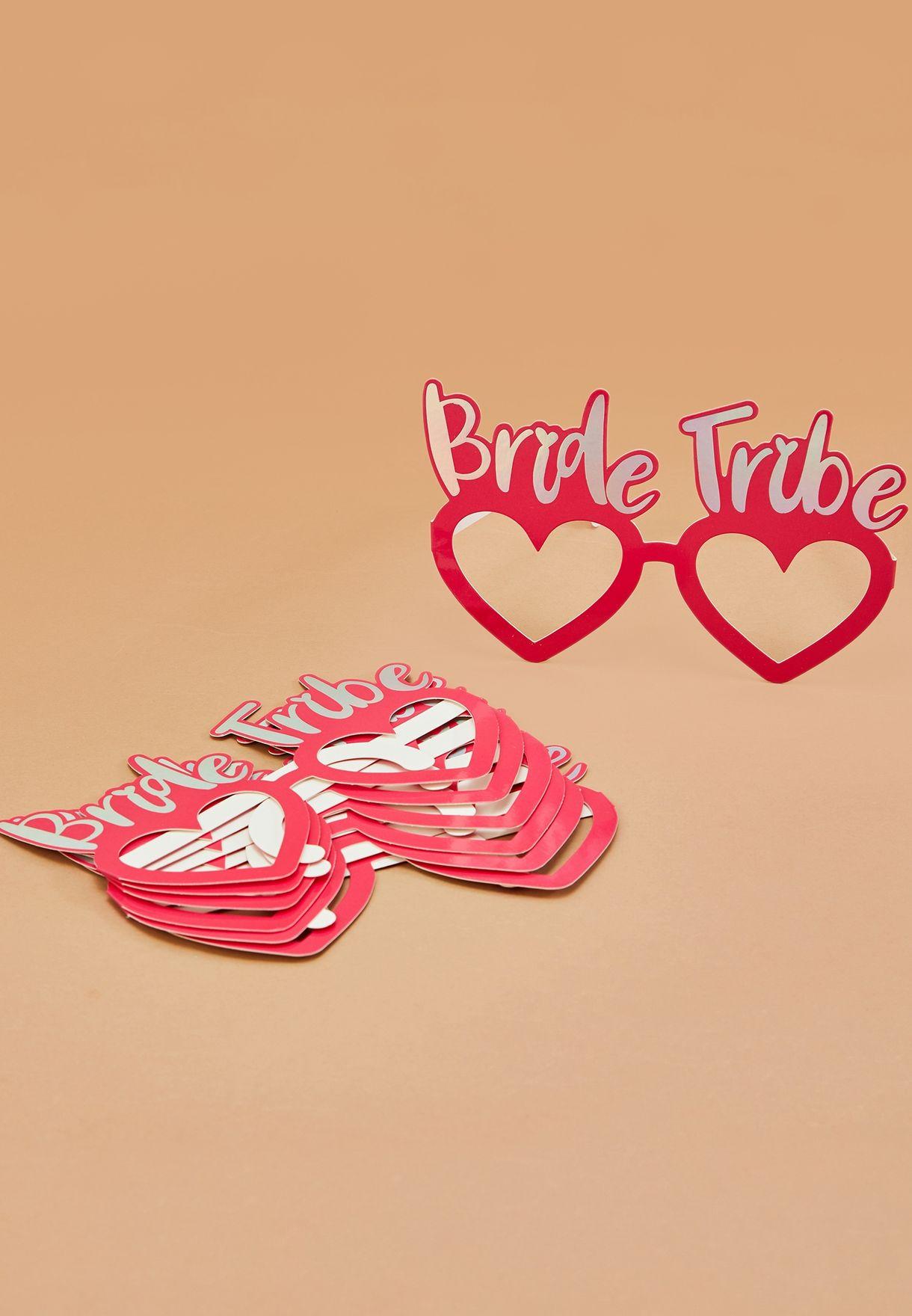 8 Pack Bride Tribe Fun Glasses
