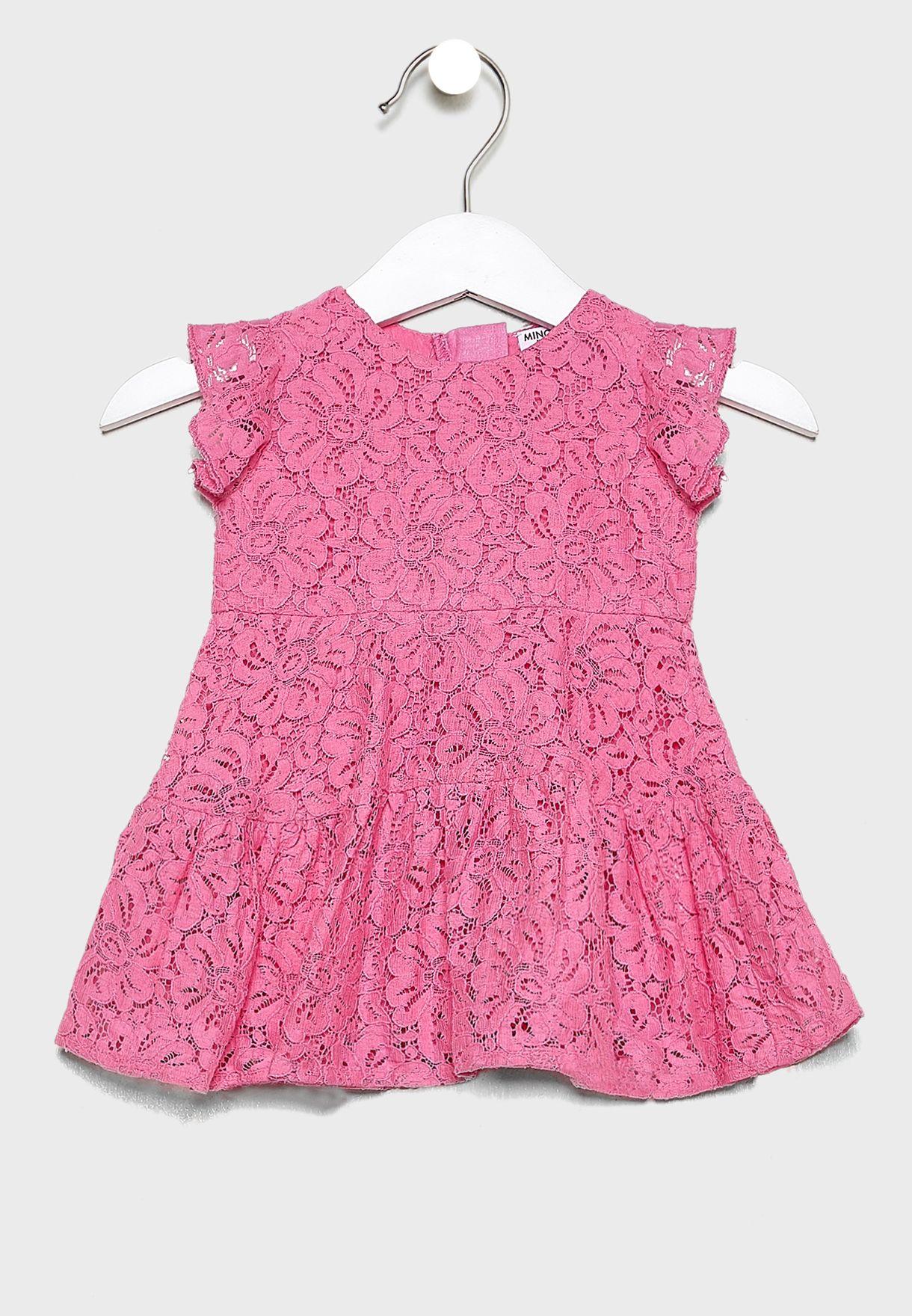 فستان دانتيل للبيبي