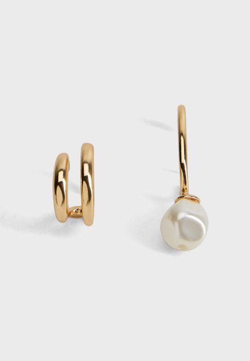 Vanessa Asymmetric Hoop Earrings
