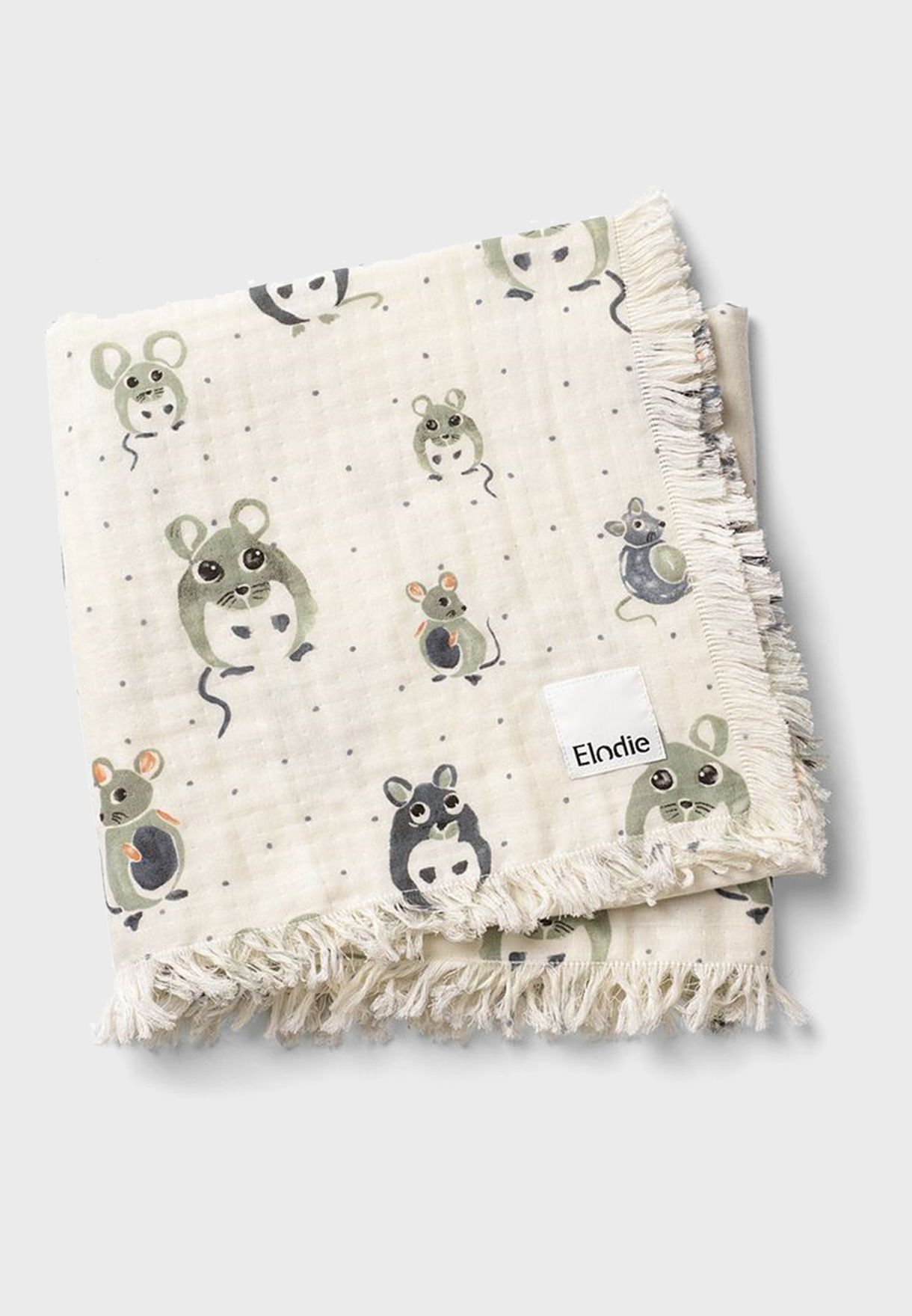 Forest Mouse Soft Cotton Blanket