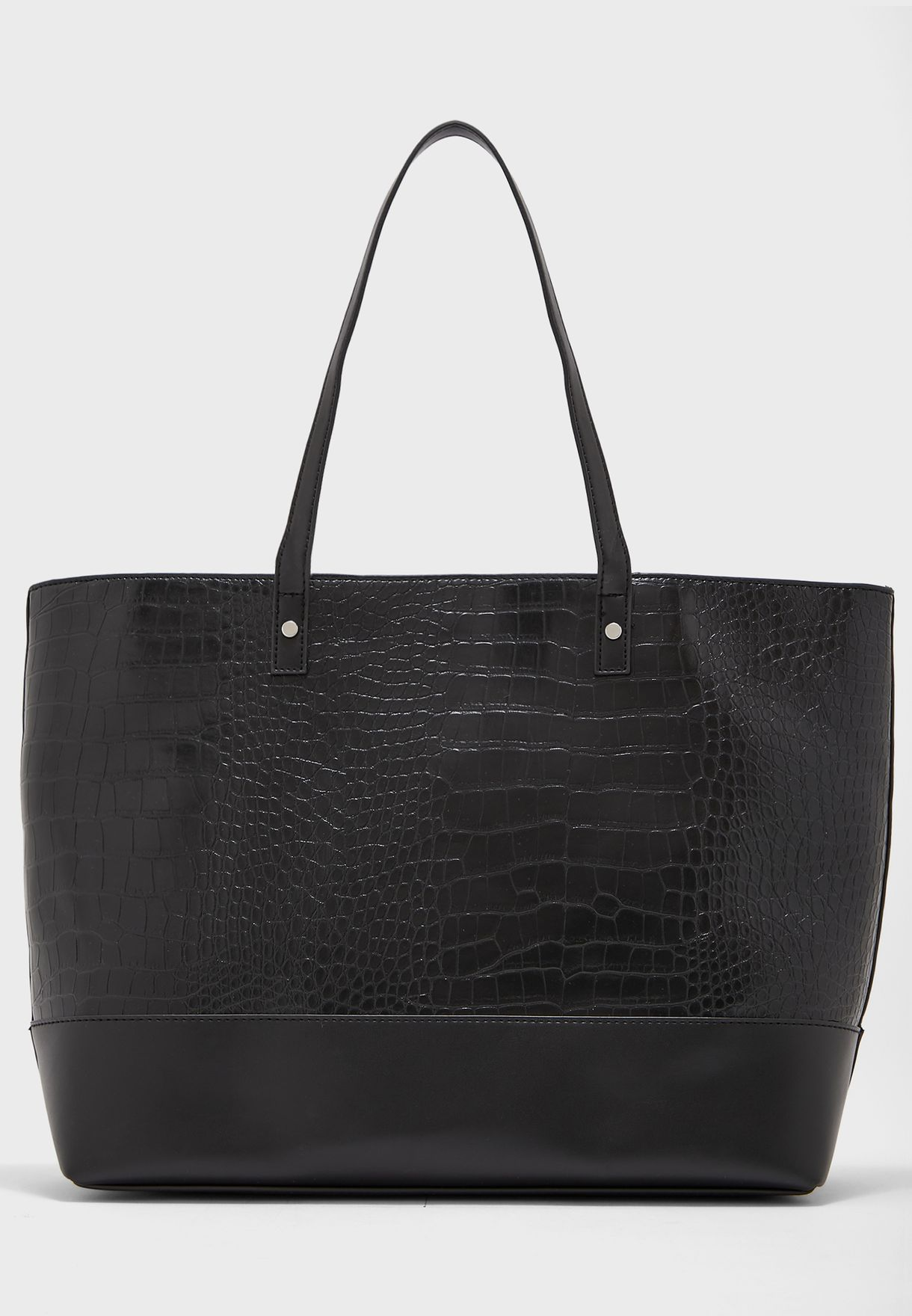 Tote Bag In Mock Croc