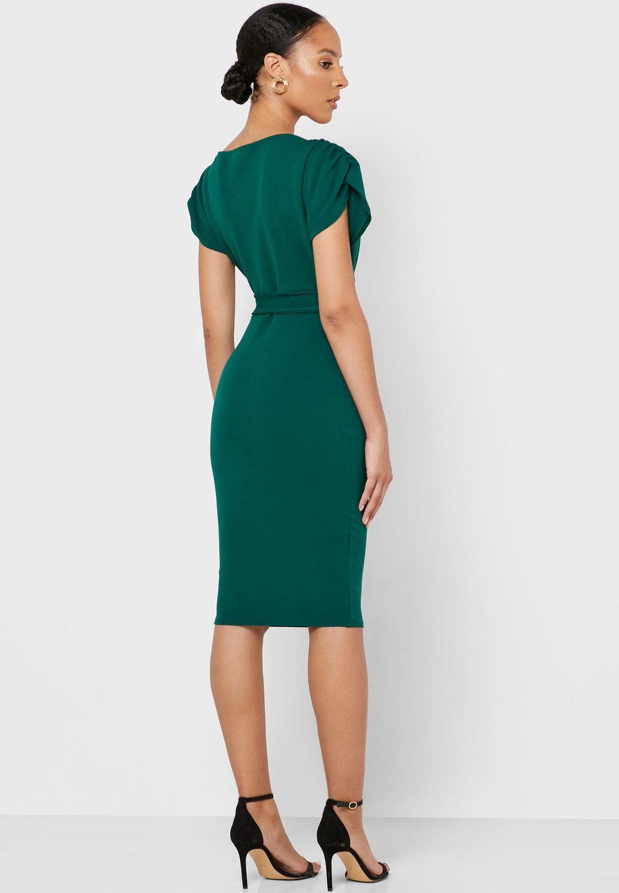 فستان لف بحزام