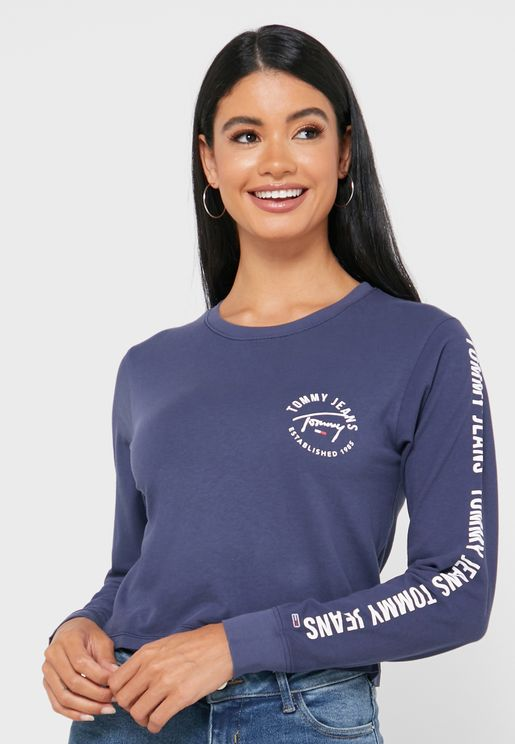 Logo Side Band Cropped T-Shirt