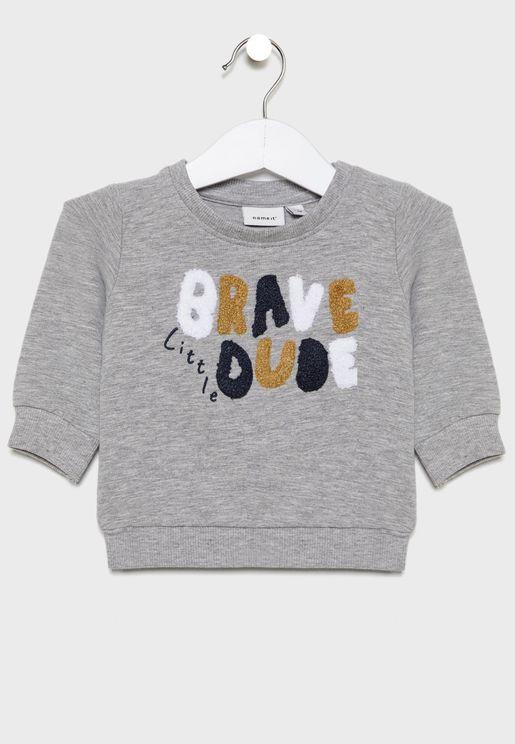Infant Slogan Sweatshirt