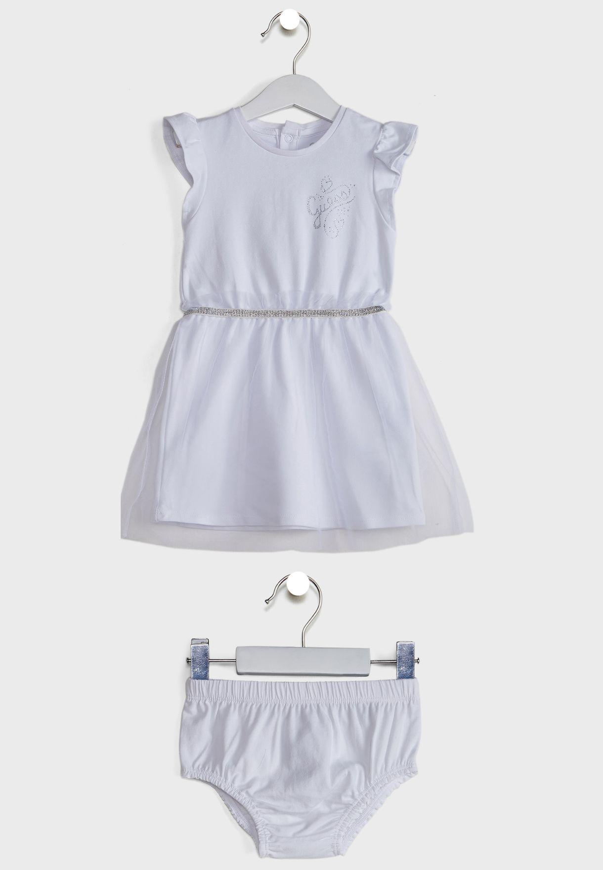 طقم فستان + سروال لتغطية الحفاض