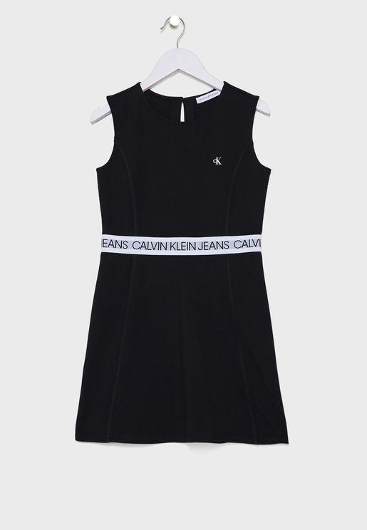 فستان ميدي بدون اكمام للاطفال
