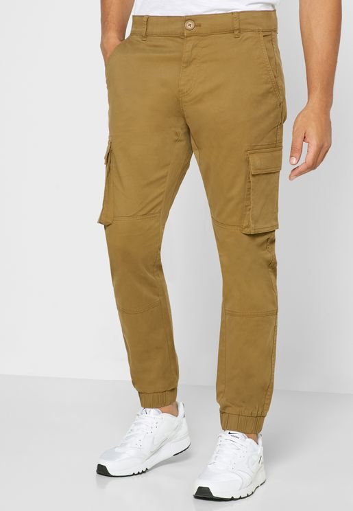Cam Stage Cuffed Cargo Pants