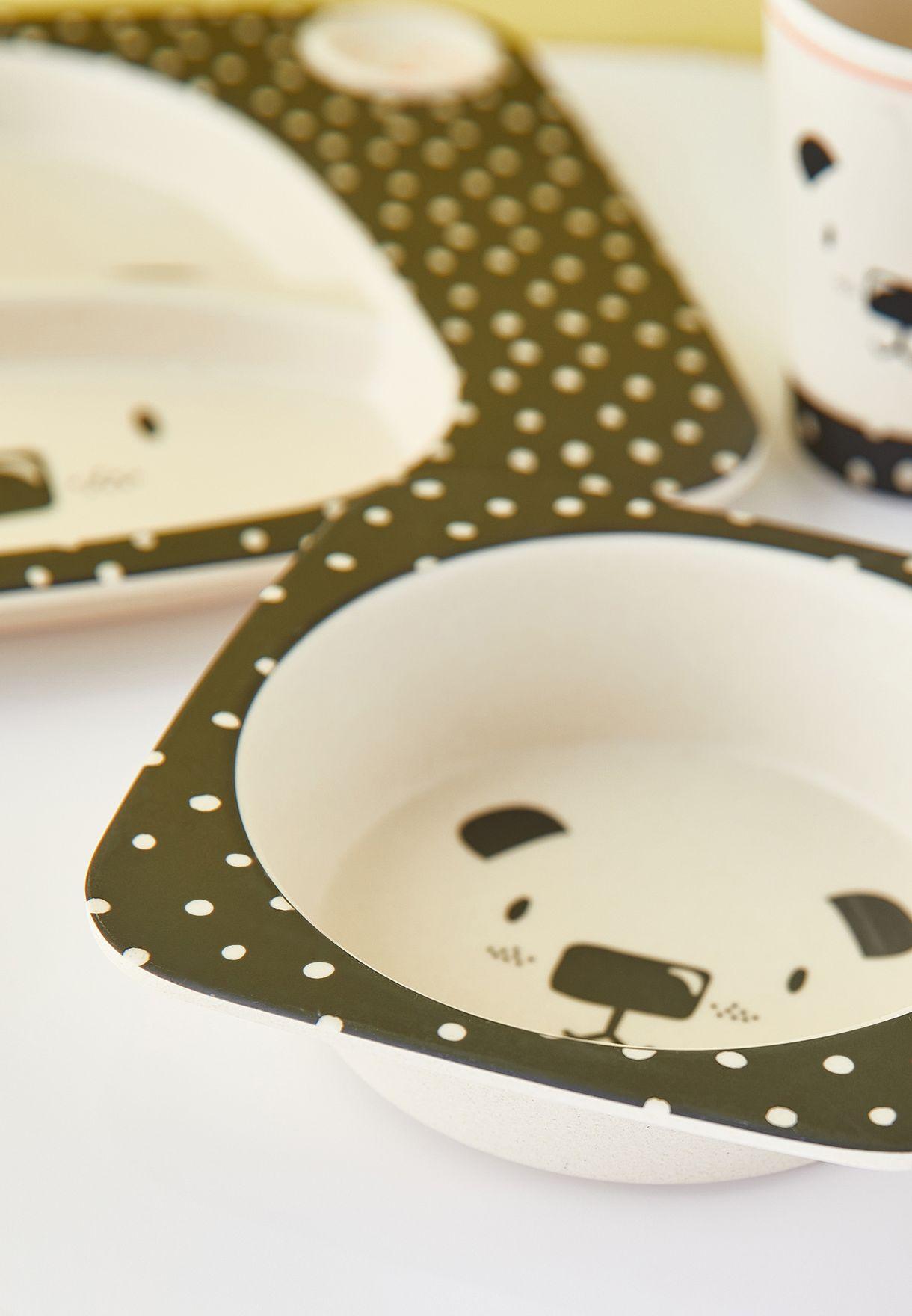 Kids Bamboo Dinnerware Set