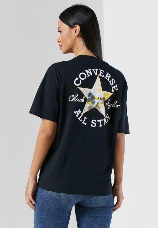 Festival Printed Back Star Infill T-Shirt