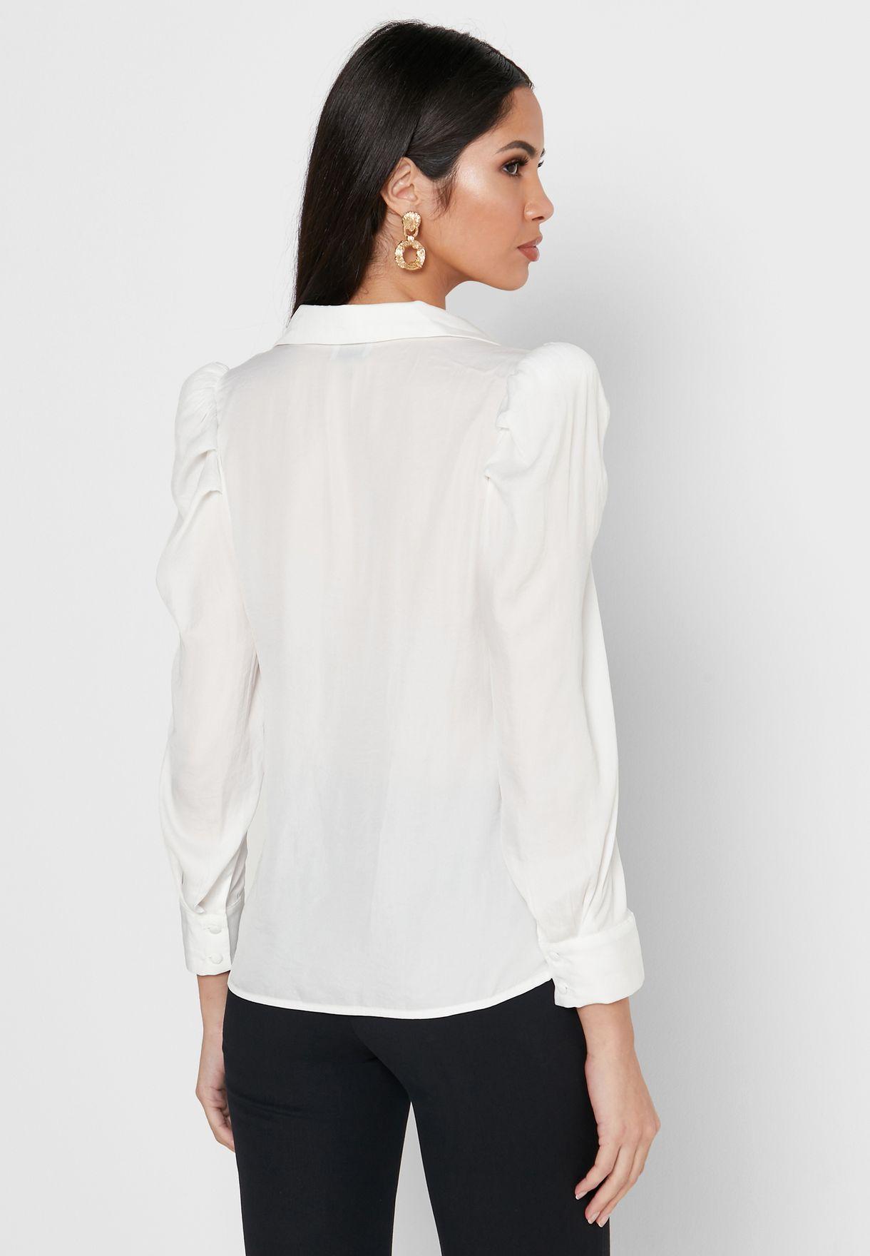 Ruched Shoulder Shirt