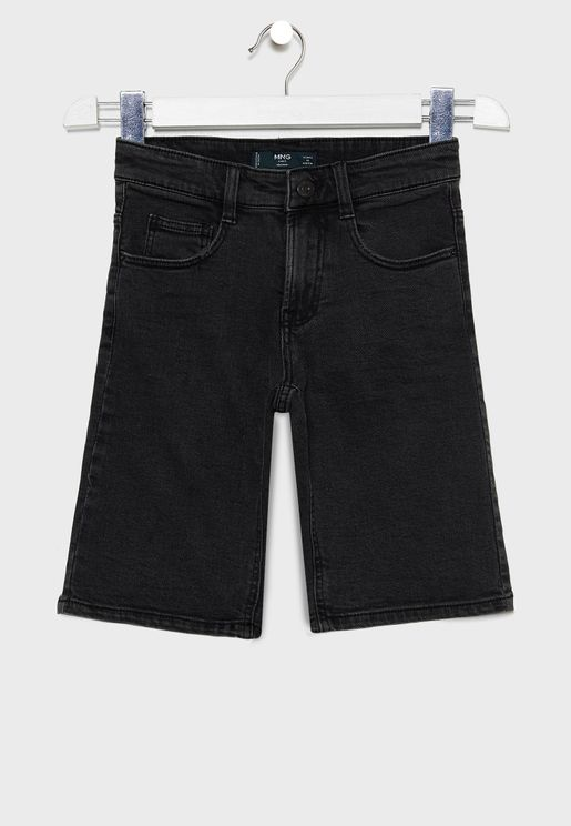 Kids Washed Denim Shorts