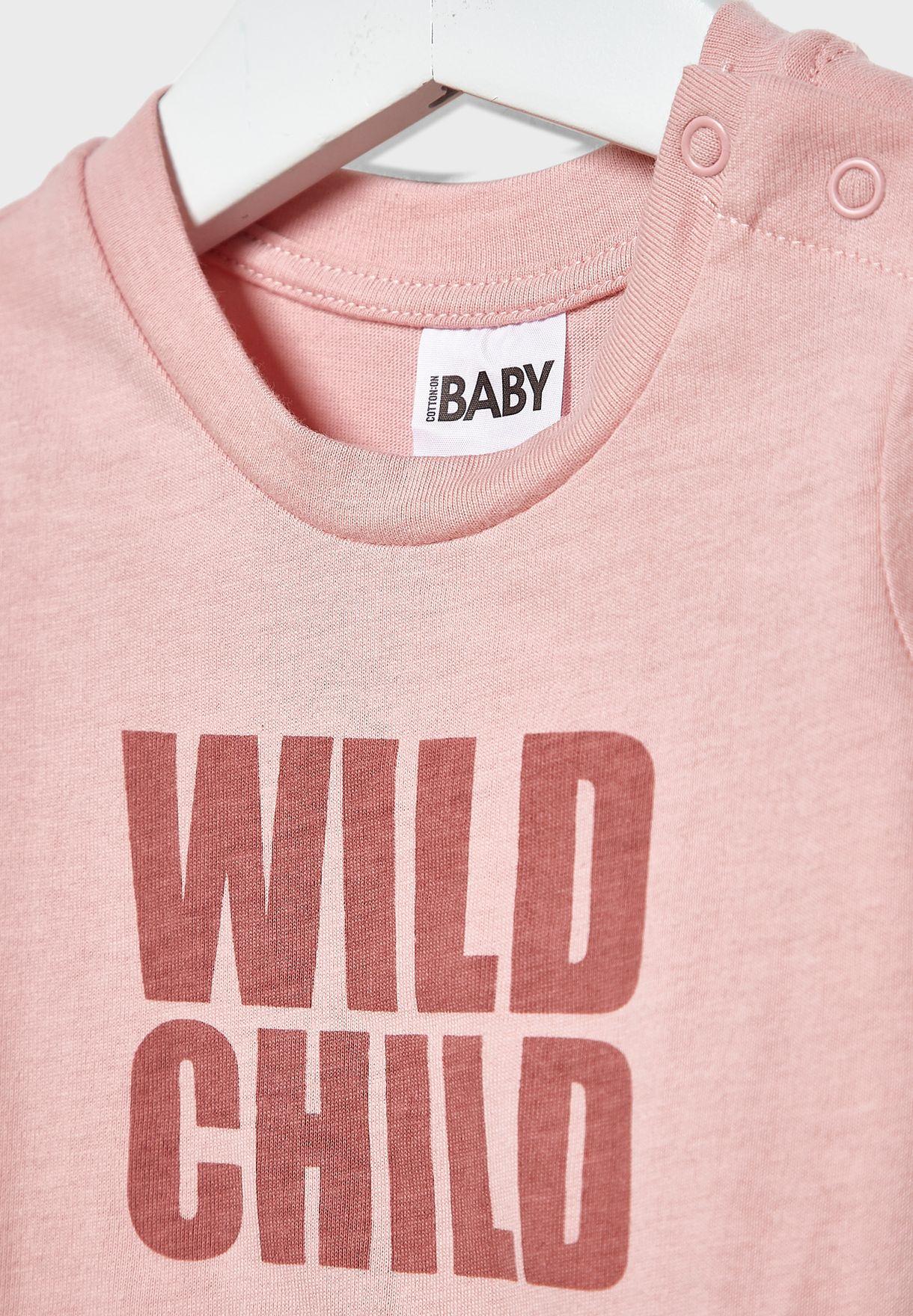 Infant Slogan T-Shirt