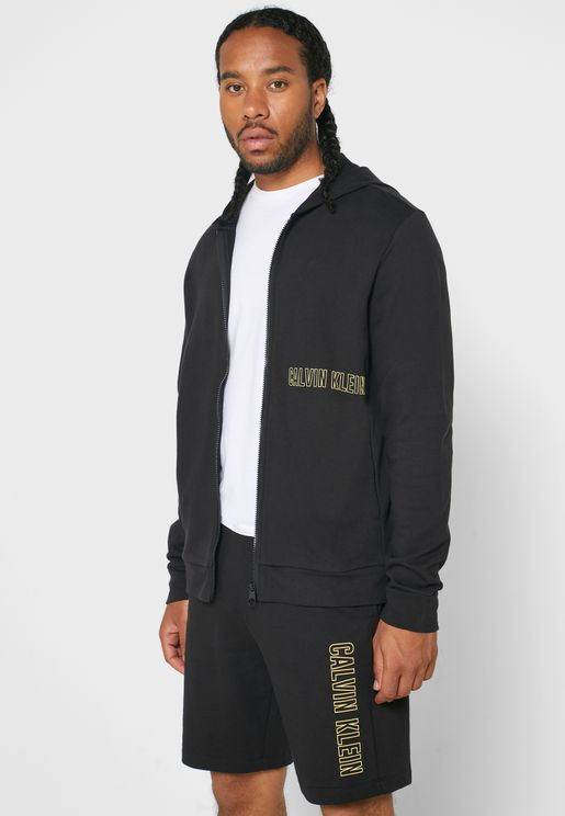 Essential Logo Hooded Track Jacket