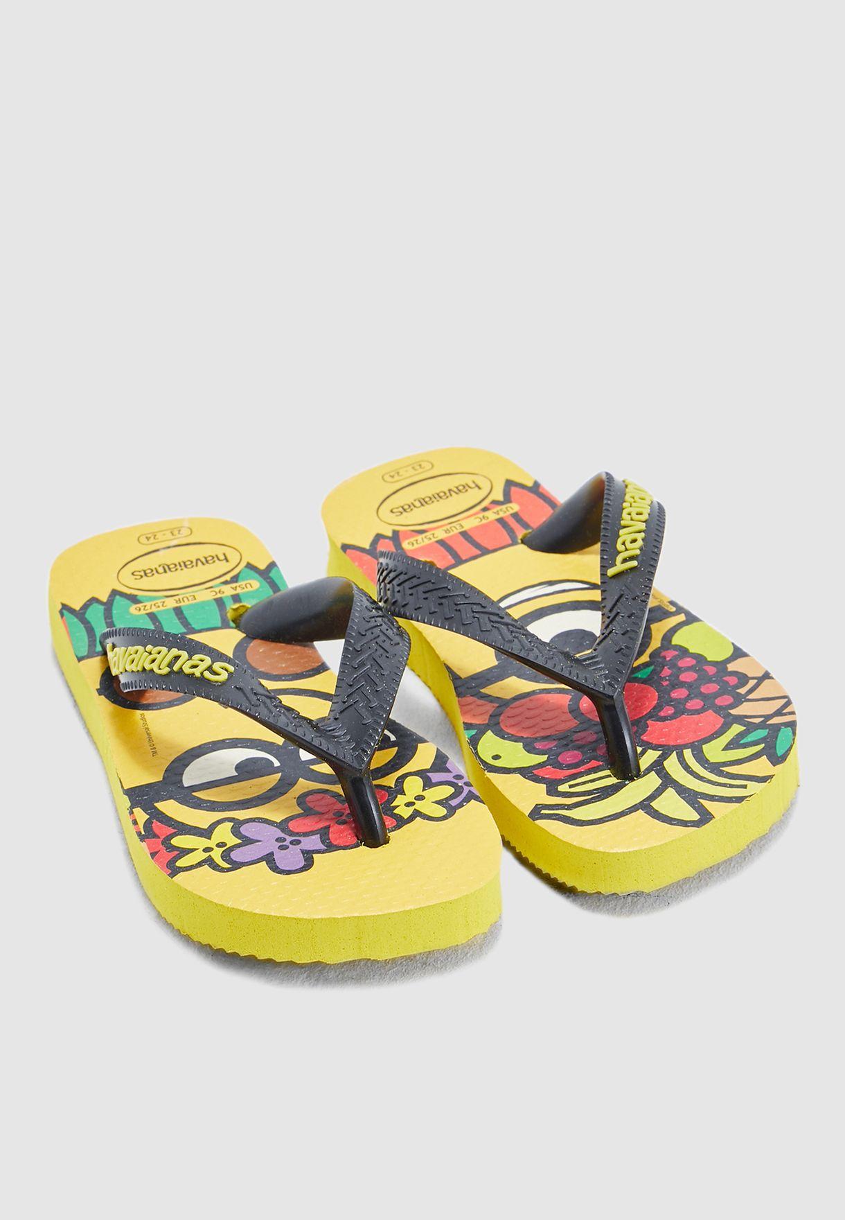 301ce84dd0c709 Shop Havaianas yellow Kids Minions Slyde 4133167 for Kids in Qatar -  21000SH15YYP