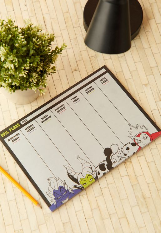 A4 Disney Villains Weekly Planner