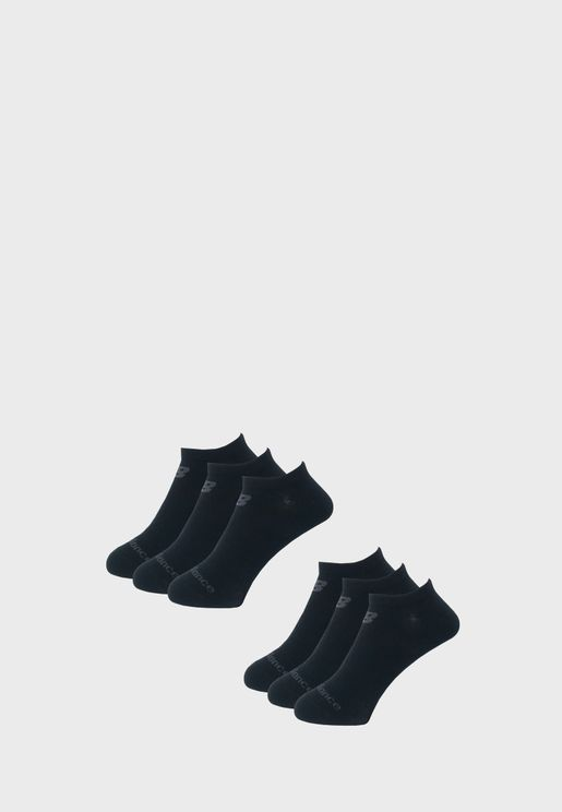 6 Pack Performance Knit No Show Socks