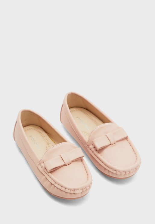 حذاء لوفر مزين بفيونكة