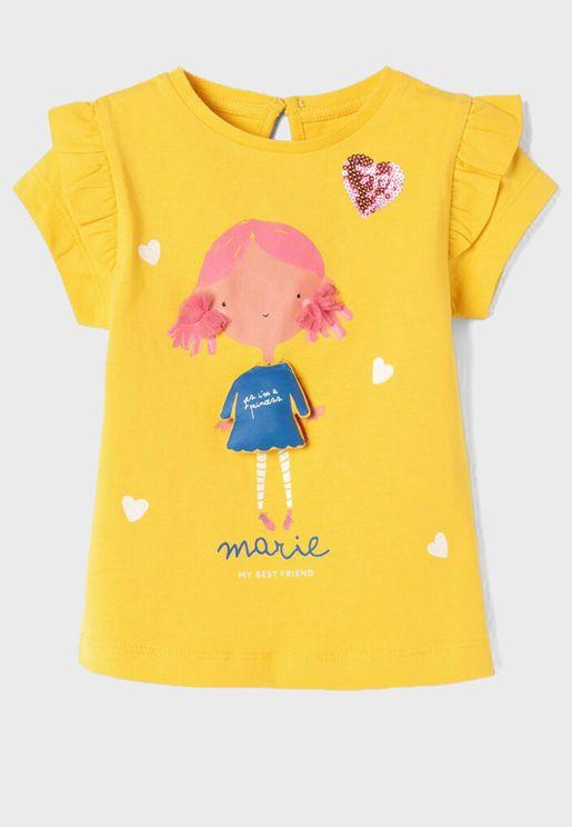 Infant Marie Ruffle Sleeve Top