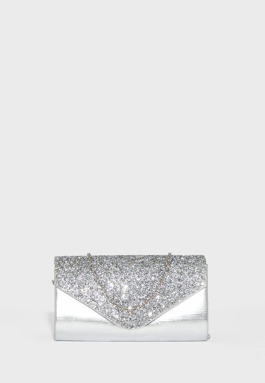 Diamante Envelope Clutch Evening Bag