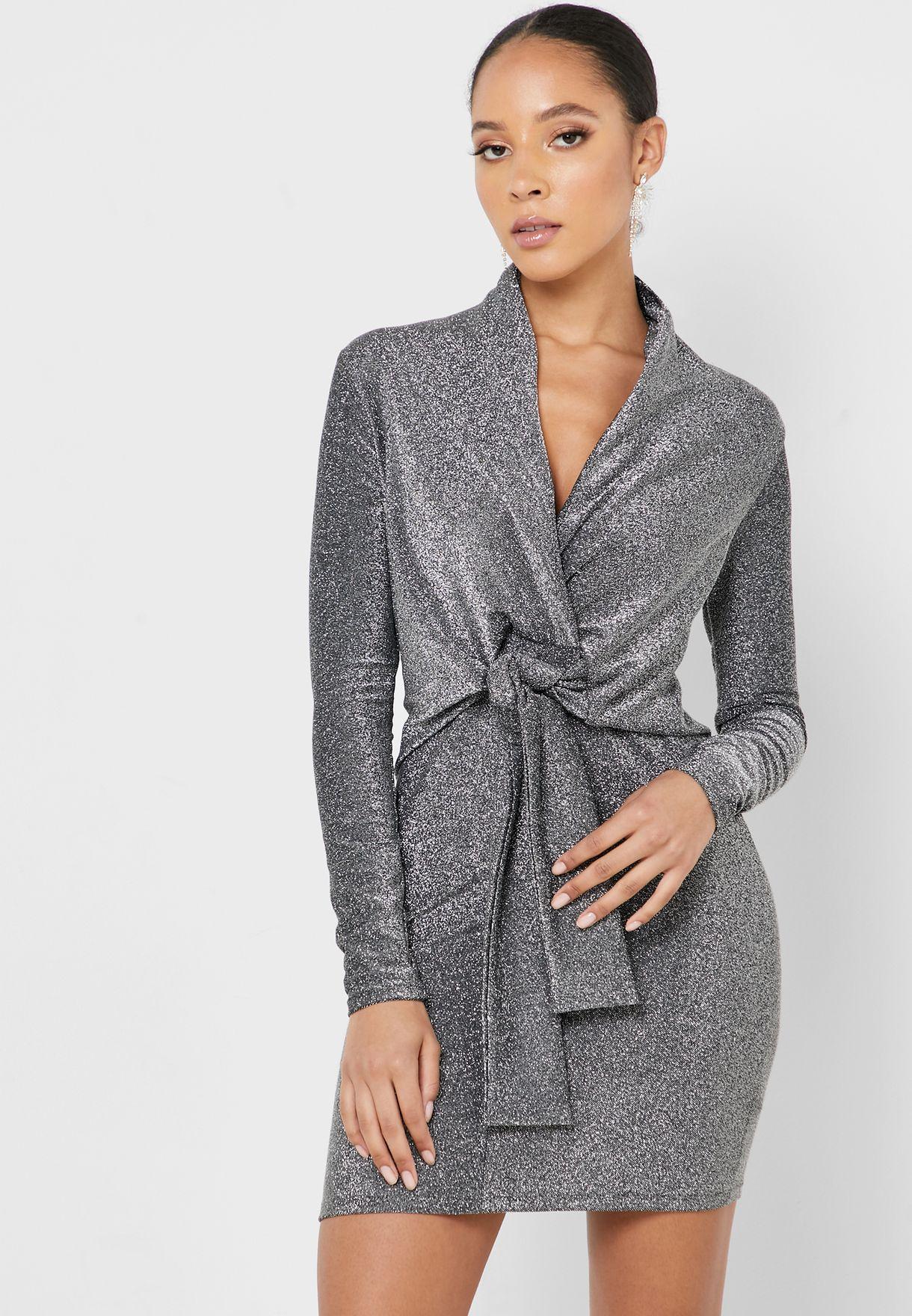 Front Twisted Blazer Dress