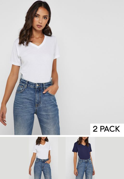 2 Pack Essential V Neck T-Shirt f1abe6a47