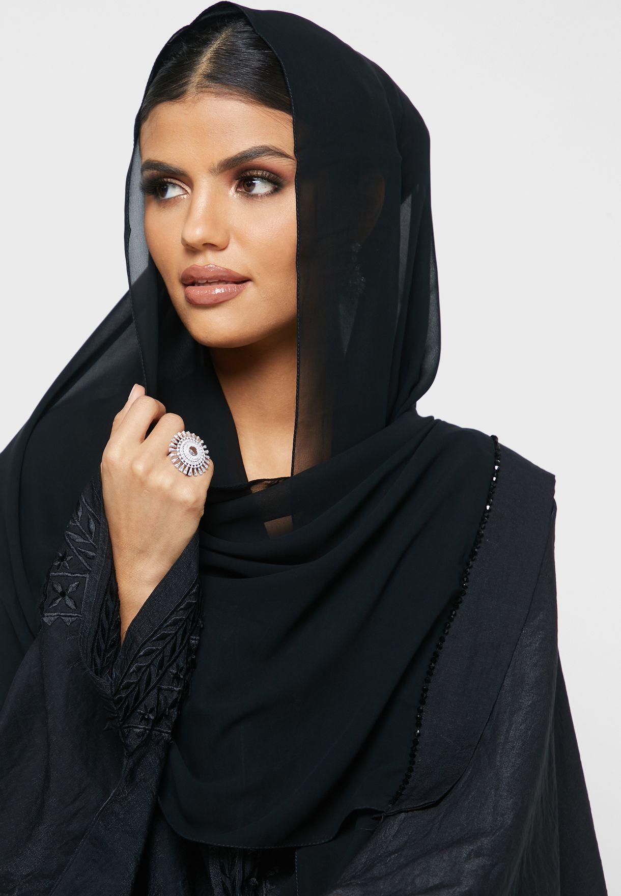 Beaded Embroidered Abaya
