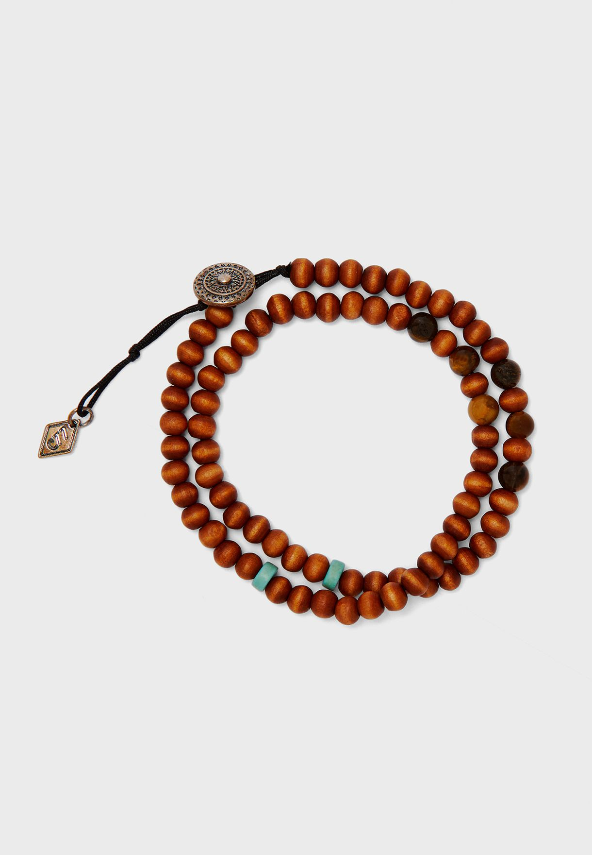Tiger Eye Beaded Wrap Bracelet
