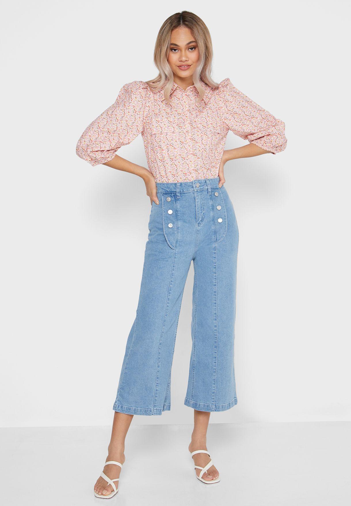 Waist Buttoned Jeans