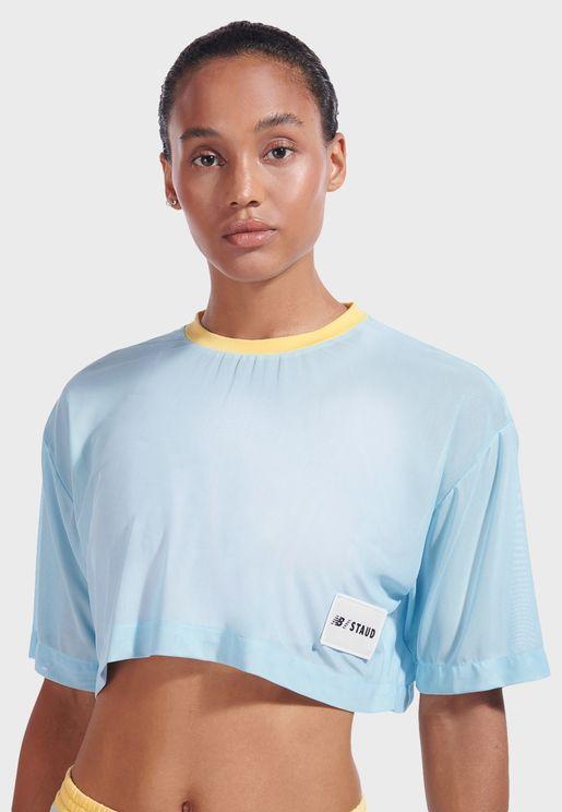 Staud Mesh T-Shirt