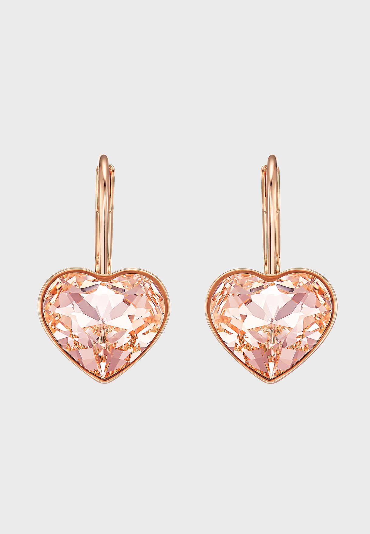 Bella Heart Drop Earrings