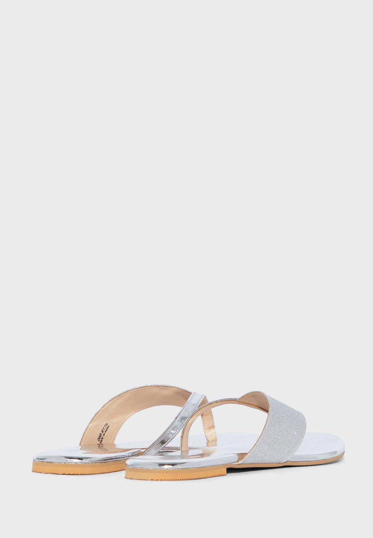 Wide Strap Flat Sandal